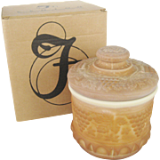 Fenton Satin Chocolate Glass Tobacco Jar