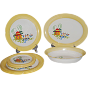 """10 Pcs. Homer Laughlin """"Chinese Willow"""" Dinnerware"""