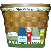 "SALE New Orleans Themed Box Purse Made ""Specially For Holmes"""