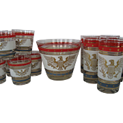 SALE 15 Piece Drink/Bar Set in Patriotic Pattern