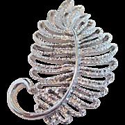 Gerry's Silver-tone Leaf Pin/Brooch