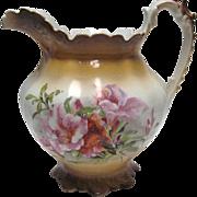 SALE Smith Phillips Semi Porcelain Pitcher - Floral Design