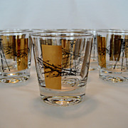 SALE Set of 8 Bar Glasses - Engineering or Survey Theme