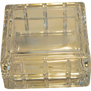 Avon Small Square Crystal  Lidded Dish