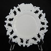 1903 White Milk Glass Patriotic Plate - Westmoreland
