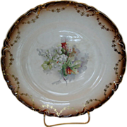 Saxon China Floral Plate