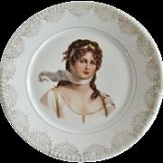 Z.S.& C. Bavaria Queen Louisa Cabinet Plate