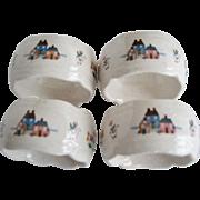 Set of 4 International Heartland Napkin Rings
