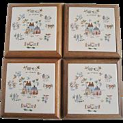 Set of 4 International Heartland Trivets