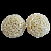 Lisner Seed Bead Clip Earrings