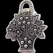 Avon Marcasite Flower Basket Pin