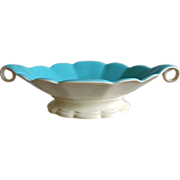 Elegant Cowan Pottery Footed Bowl, Ca. 1927, Riviera/Ivory