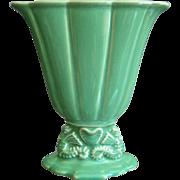 Cowan Pottery Small Seahorse Fan Vase #715-X, Ca. 1926, April Green