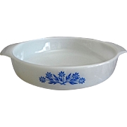 "Fire King ""Cornflower"" 9"" Round Cake Pan"