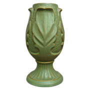 Hyalyn Porcelain Acanthus Vase #665, Matte Green