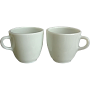 Pyrex Restaurant Ware Mugs, Set of 2