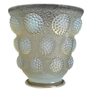 "SOLD Verlys ""Les Cabochons"" Vase, Opalescent, Circa 1937"