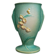 "Roseville Pottery Ixia Vase #854-7"", Green, Ca. 1937"