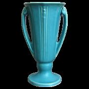 "Roseville Pottery ""Russco"" Vase #696-8"", Blue, Circa 1934"
