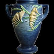 "Roseville Pottery Freesia Vase #121-8"", Blue, Circa 1945"