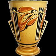 "Roseville Pottery Laurel Vase #673-8"", Yellow, Circa 1934"