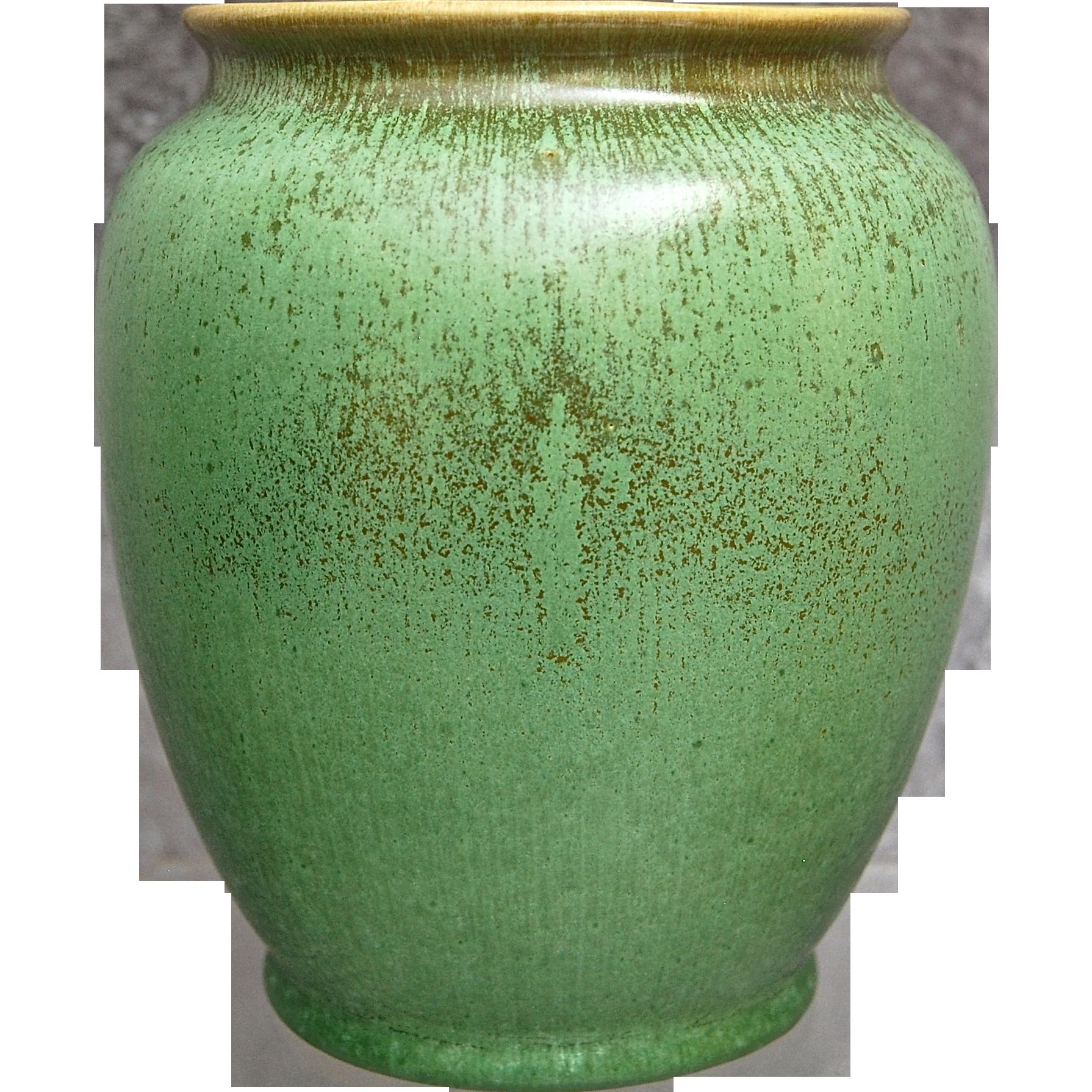 Cowan Pottery Vase 728 Antique Green Glaze Circa 1929
