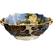 Ornate Noritake Bowl w/Yellow Roses, Circa 1925