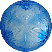 Verlys Thistle Bowl, Blue, Circa 1938