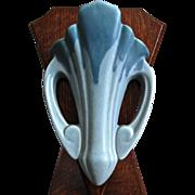 "Roseville Pottery Carnelian Wall Pocket #1252-8"", Blue, Circa 1926"
