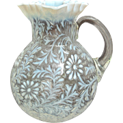 Northwood Glass Daisy & Fern Pitcher, Circa 1900