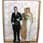 Very Large 1920's Bisque Flapper Cake Toppers