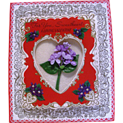 Large Folded  American Greeting Valentine