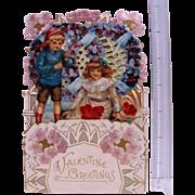 Nice Vintage  Fold Out Honeycombed Valentine