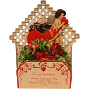 Early Vintage Fold Out Valentine with Honeycomb