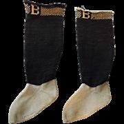 "Old Black ""B"" Burson Doll Socks"