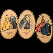 "SALE PENDING Three Lovely Old ""Les Modes Parisiennes"" Fashion Prints"