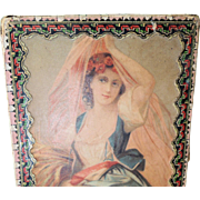 SALE PENDING Pretty Old Decorative Lady's Fashion Doll Box * Hankies, Gloves or More