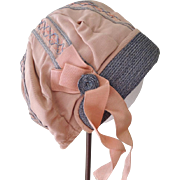 REDUCED Lovely Tan Cloche Style Hat for Child or Large Doll