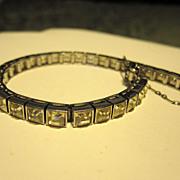 SALE Dorsons Sterling Silver Art Deco Bracelet