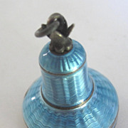 SALE Art Deco Guilloche Enamel bell shaped casing for Antique Watch