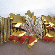 SALE Highly Unusual Signed McClelland Barclay Bracelet With Leaves