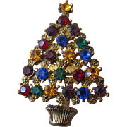 Eisenberg Ice Christmas Tree Brooch from Collection