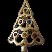Eisenberg Ice Openwork Christmas Tree Brooch