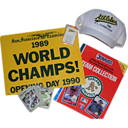 REDUCED Oakland A's 1988-89 World Series Champs collector lot