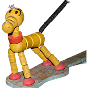 REDUCED String Puppet; dancing doggie