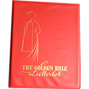 SOLD The Golden Rule; Lutterloh manual of fashion design and sewing