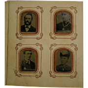 SALE 1881 miniature photo album & tintypes
