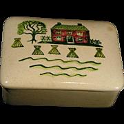 SALE Lidded box Homestead Provincial Poppytrail, Metlox; scarce piece