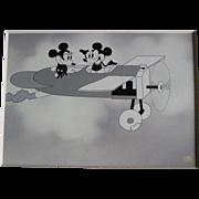 "Mickey & Minnie Mouse animation scene ""Plane Crazy"", 1928"