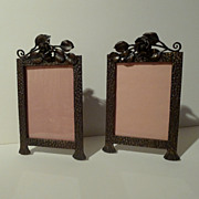SOLD FRENCH  Iron Art Deco   Picture Frames PAIR - Red Tag Sale Item